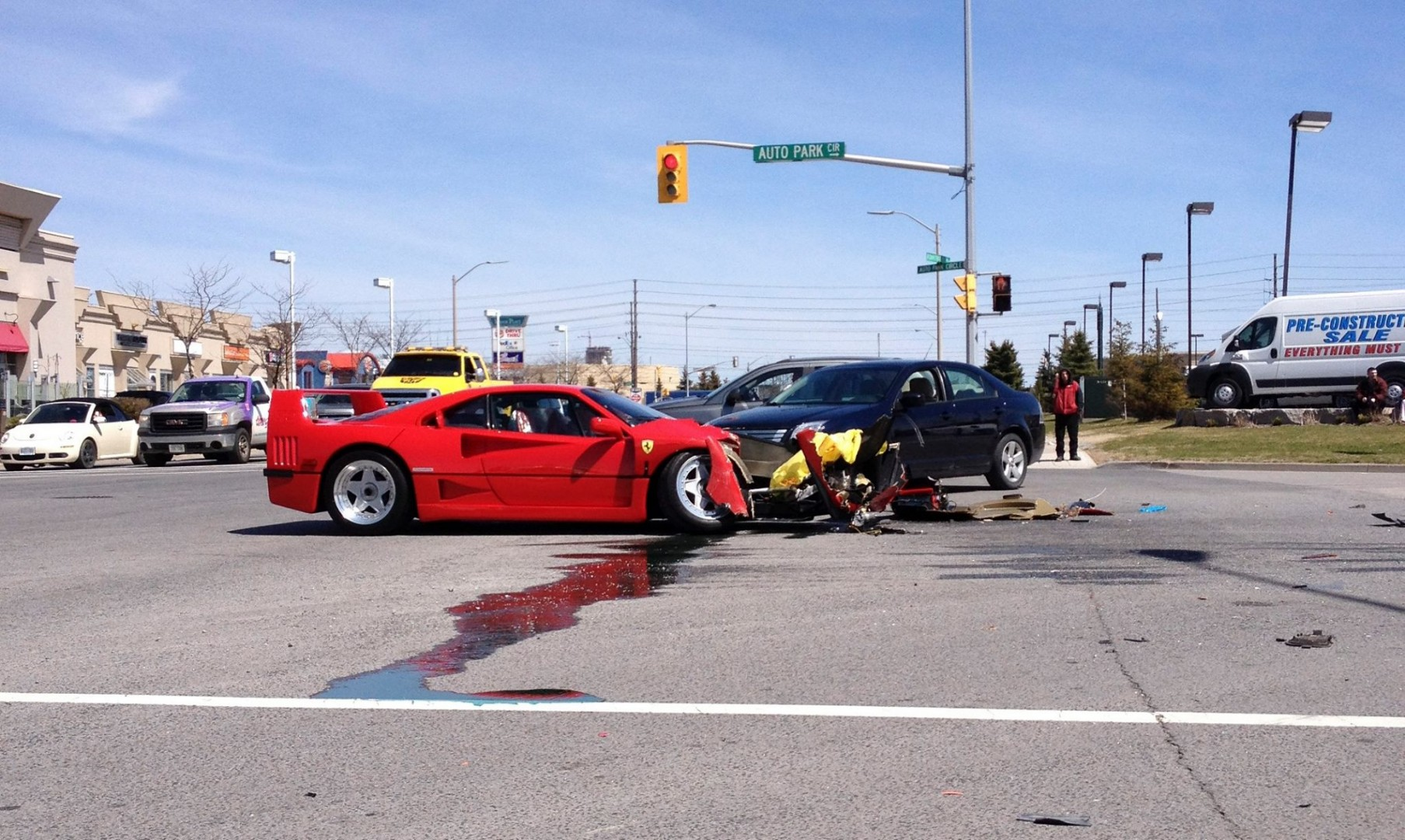 Ferrari F40 accident Toronto