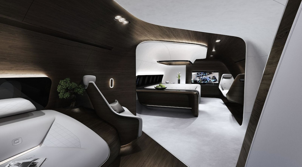 mercedes benz et lufthansa fonds une cabine d 39 avion ultra vip luxury car magazine. Black Bedroom Furniture Sets. Home Design Ideas