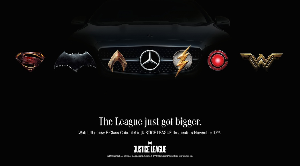 Mercedes-Benz startet Marketing-Kampagne zum Superhelden-Epos JUSTICE LEAGUE von Warner Bros. Pictures: Superhelden fahren Mercedes-Benz