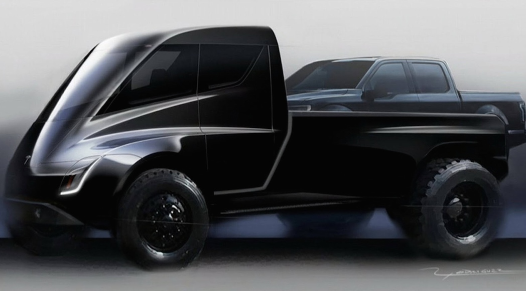 Esquisse du Tesla Pick-Up
