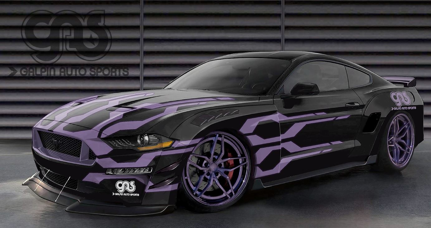 Galpin Auto Sports wide-body road racing Mustang GT | Photo: Ford
